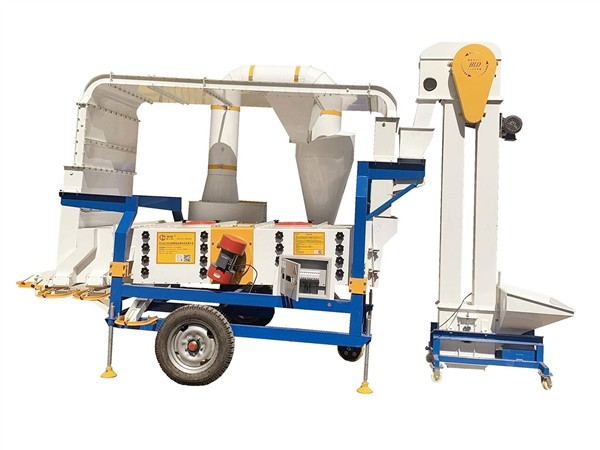 Small Scale Wheat Vibration Screen Grain Seed Pre Cleaner